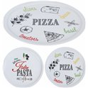 LOT DE 6 ASSIETTES A PIZZA PORCELAINE 30CM